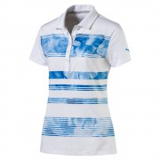 Puma Bloom Stripe blue polo damskie