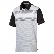 Puma Highlight Stripe white/black polo męskie