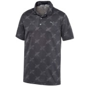 Puma Alterknit Palms Polo black koszulka golfowa