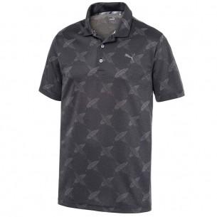 Puma Alterknit Palms Polo black koszulka golfowa