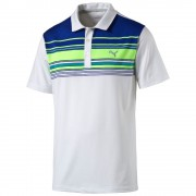 Puma Key Stripe green polo