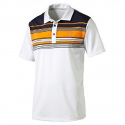 Puma Key Stripe orange polo