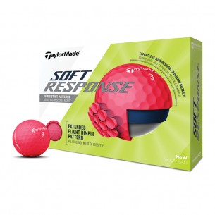 Taylor Made Soft Response red 12-pack piłki golfowe