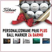 Piłki Golfowe Titleist na Święta [DARMOWA PERSONALIZACJA + BALL MARKER GRATIS]