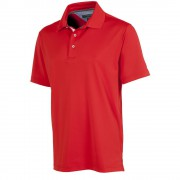 Tommy Hilfiger Solid Pique Fiery Red polo męskie