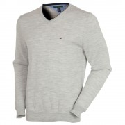 Tommy Hilfiger Preston V-Neck Heather Grey Sweater
