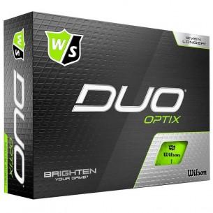 Wilson Staff DUO Optix green 12-pack piłki golfowe