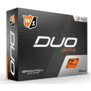 Wilson Staff DUO Optix orange 12-pack piłki golfowe