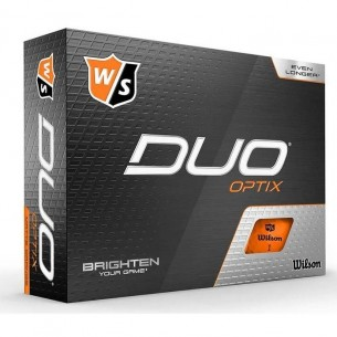 Wilson Staff DUO Optix orange 12-pack piłki golfowe