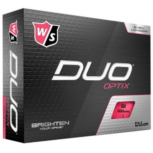 Wilson Staff DUO Optix pink 12-pack piłki golfowe