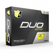 Wilson Staff DUO Optix yellow 12-pack piłki golfowe