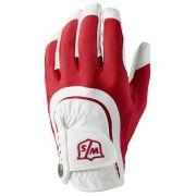 Wilson Staff Fit-All One Size white/red rękawiczka golfowa