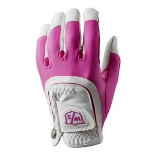 Wilson Staff Fit-All Ladies One Size white/pink rękawiczka golfowa