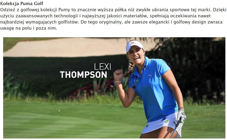 Puma Golf odzież golfowa
