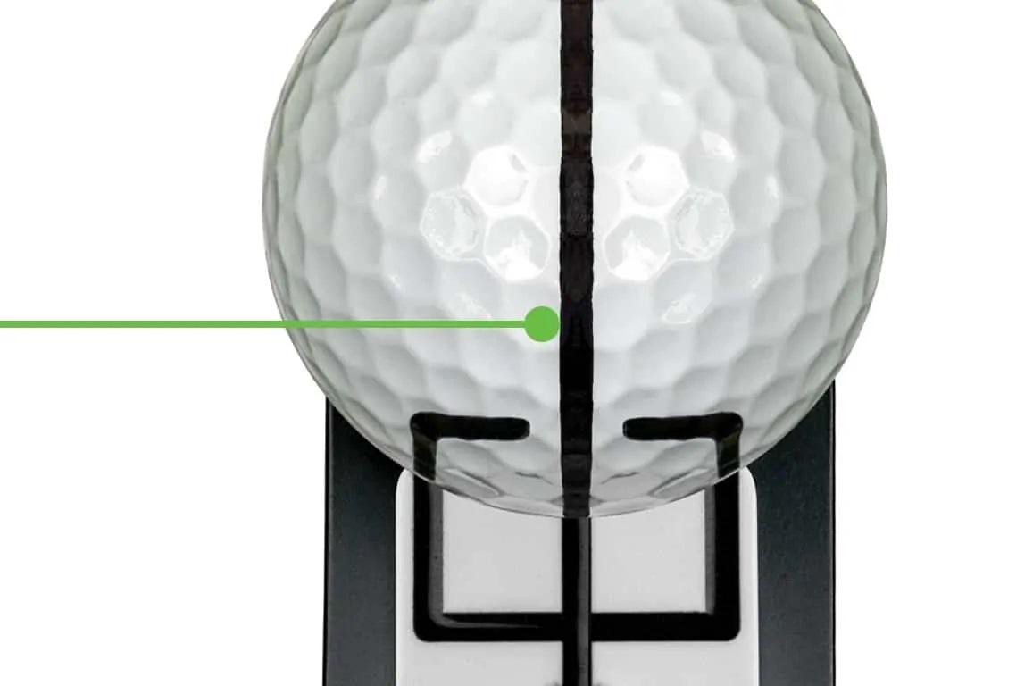 Trident ball marker urządzenie do ustawiania się do piłki golfowej