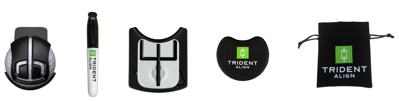 Trident Align marker piłki golfowej